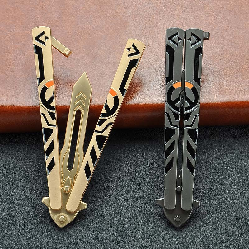 Anime Peripheral Crafts Butterfly Throwing Knife Training Tool Toy Alloy Weapon Model Without Cutting Edge Safe Use