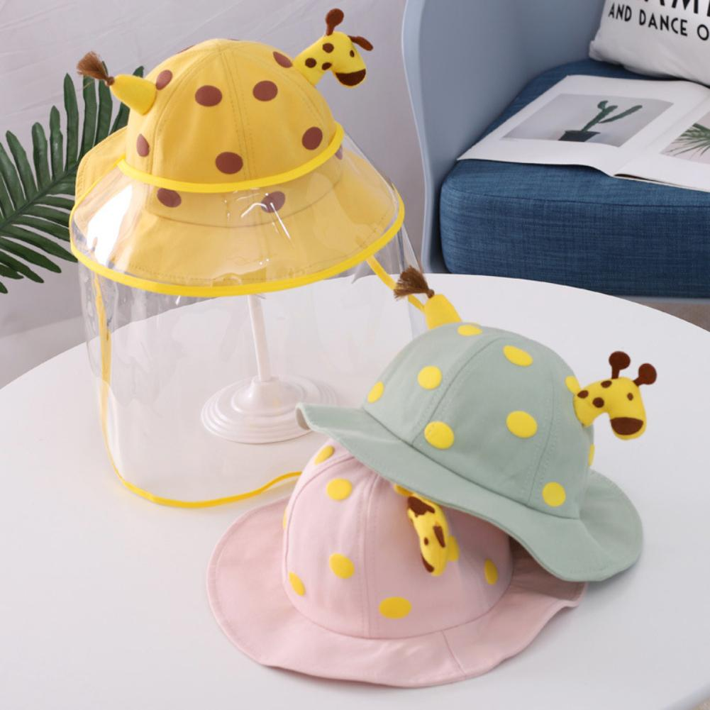 Baby Giraffe Anti Splash Dust-proof Full Face Covering Mask Anti Droplets Sun Protection Protective Mask Hat Removable Cover