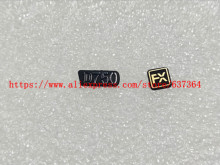 New Label Nameplate D750 LOGO +FX Rubber For Nikon D750 Camera Part