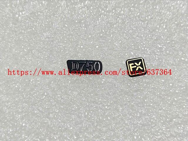 Placa de identificación para cámara Nikon, D750 LOGO + FX Goma