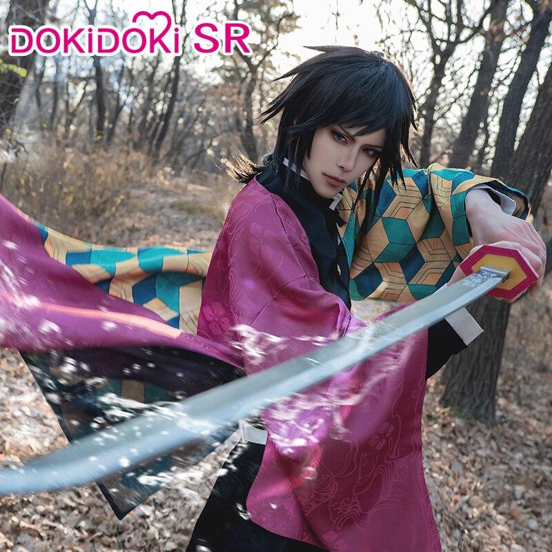DokiDoki-SR Anime Demon Slayer: Kimetsu No Yaiba Cosplay Tomioka Giyuu Cosplay Men Kimetsu No Yaiba Costume Tomioka Giyuu