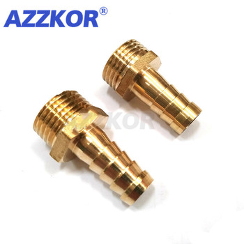 Brass Hose Male Fitting Brass Pagoda Pipe Fitting 6-12mm Hose Barb Tail1/81/43/81/2BSP Male Thread Copper Connector Adapter 1 2 pt male thread to 12mm hose barb plastic cover lever ball valve brass tone discount 50
