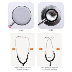 Image 2 - רפואי כפול צדדי קרדיולוגיה רופא סטטוסקופ מקצועי רפואי לב סטטוסקופ אחות תלמיד רפואי ציוד מכשיר