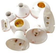 10 шт./лот E14/E27 розетка белая прямоугольная раковина E14/E27 держатель лампы для Светодиодный светильник, не более AC250V 60W