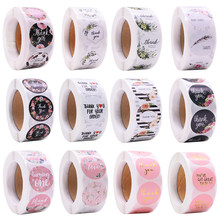 500pcs/roll Thank You Stickers Gifts Box Seal Labels Self-adhesive Sticker DIY Handmade Scrapbook Wedding Birthday Party Favors