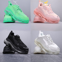 Triple S Sneakers For Men Women White Shoes Male Fashion Triples Shoes Outdoor Trainers Zapatillas Mujer Runner Chunky Sneakers