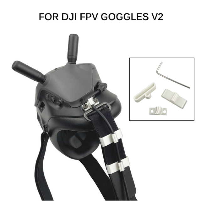 Power Cable Fixer for DJI FPV Goggles V2 Cable Management Holder Fixed Buckle Power Cord Line Anti loosing Harness Accessories