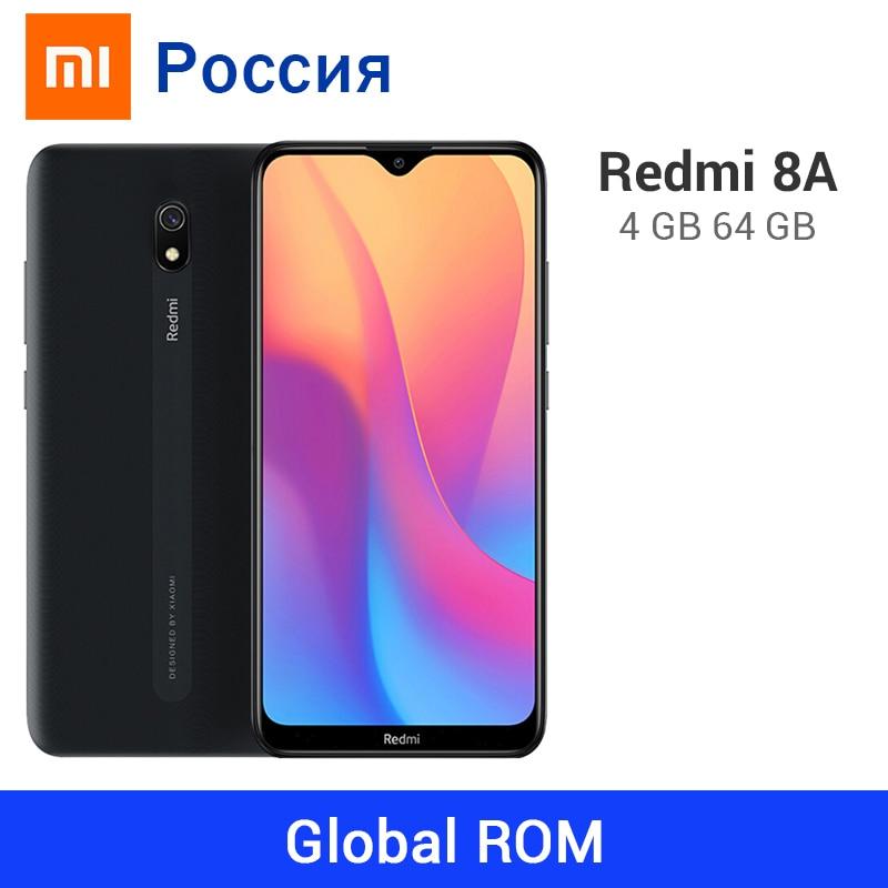 Xiaomi Redmi 8A 4 Гб ОЗУ 64 Гб ПЗУ 5000 мАч 8 А Восьмиядерный Snapdargon 439 камера 12 МП OTA обновленный мобильный телефон Type-C