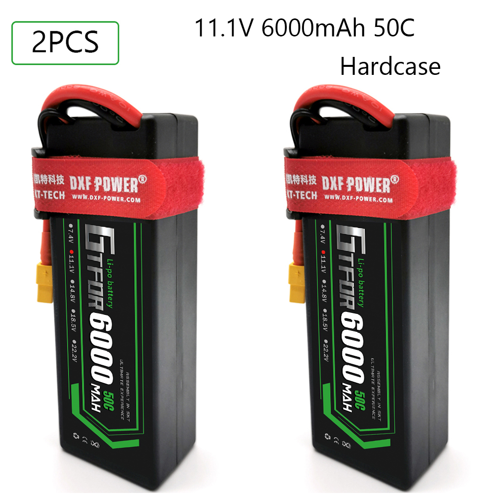 GTFDR Lipo Battery 3S 11.1V 6000mah 50C T Deans XT60 EC5 XT90 Hardcase For Car Truck Boat FPV Airplane Quadcopter RC Par