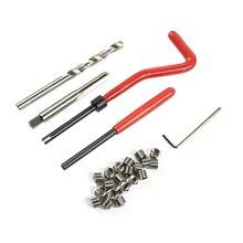 купить 30pcs M5 M6 M8 Thread Repair Tool Set Recoil Thread Inserts Kit Car Pro Coil Drill Tool недорого