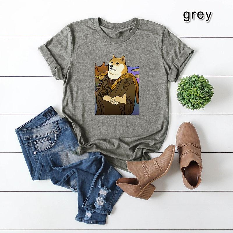 Plus Size S-5XL Funny Dog Print T Shirt Women Shirts 100%Cotton O Neck Short Sleeve Tees Summer T-Shirt Pink Top TShirt Women