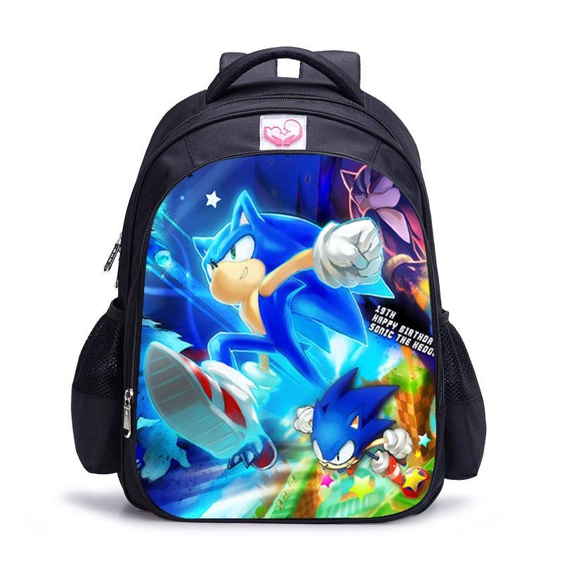 11-16 Inch Mario Sonic Boom Hedgehogs Children School Bags Orthopedic Backpack Kids School Boys Mochila Infantil Catoon Bags