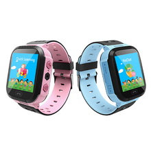 Smart Watch Phone Kids GPS Phone Watch with Touchscreen SOS GPS Tracker Watch Wrist Android Cell Phone Compatible for Children стоимость