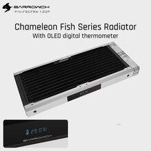 Barrowch FBCFRX 240 זיקית דגים מודולרי 240mm רדיאטור עם OLED תצוגת אקריליק/פום כניסת מודול מתאים עבור 120mm מאוורר