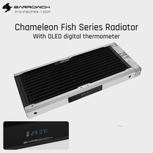 Barrowch FBCFRX 240 Chameleon Fish Modular 240mm Radiator With OLED Display Acrylic/POM Inlet Module Suitable For 120mm Fan