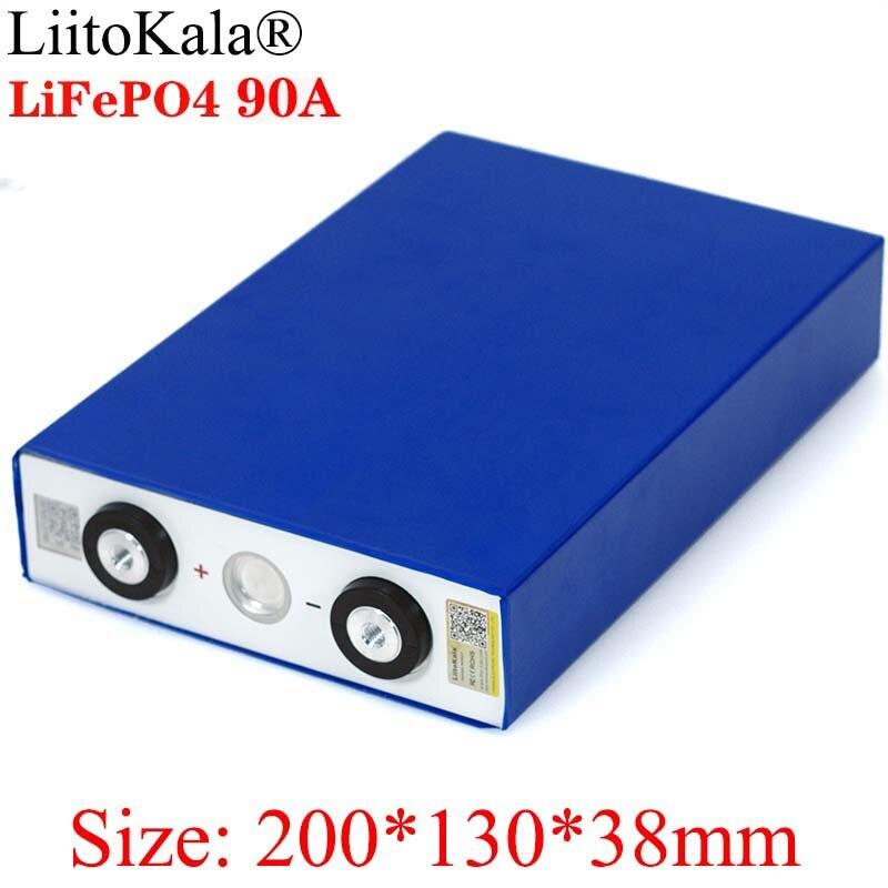 Liitokala 3.2V 90Ah batterie LiFePO4 Lithium fer phospha grande capacité 90000mAh moto électrique voiture moteur batteries