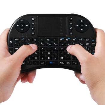 цена на Mini Black 2.4Ghz Wireless 92 Keys Touchpad Keyboard Ergonomically Handheld Design Easy to Carry and Operate