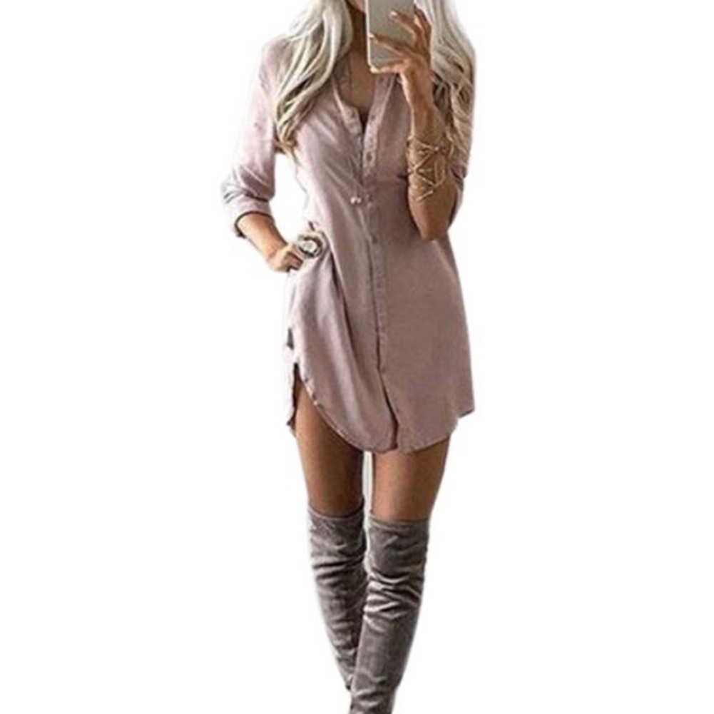 Vestido feminino blusa vestido moda outono inverno casual solto manga comprida blusa tops blusa casual vestido