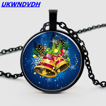 2019 Santa Claus Bell Pendant Necklace Holiday Gift
