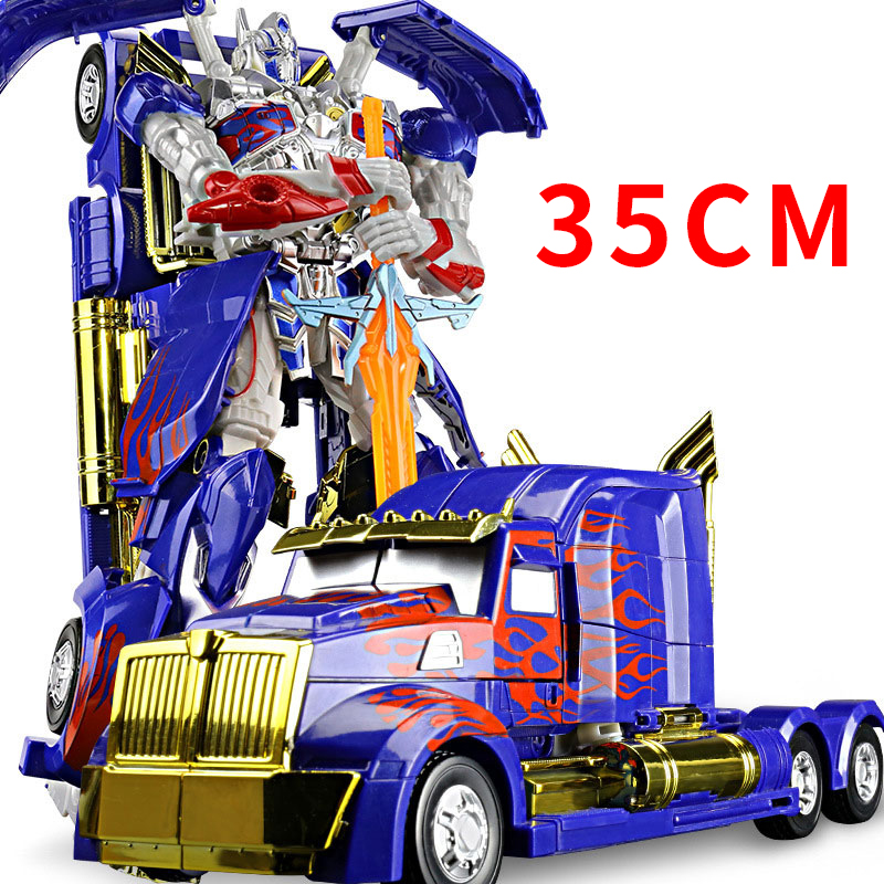 35CM Transformation Toys Robot Series Anime Optimus Prime Wasp Warrior Toy Plastic ABS Alloy Robot Car Boy Toys Gifts