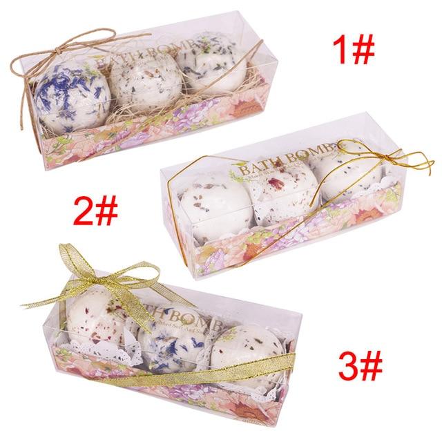 New 3pcs Bath Salt Ball Flower Bubble Whitening Moisturize SPA Relaxation Gift SCI88