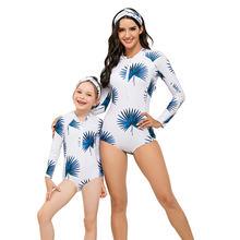 Цельный купальник купальники для мамы и дочки Семейные костюмы