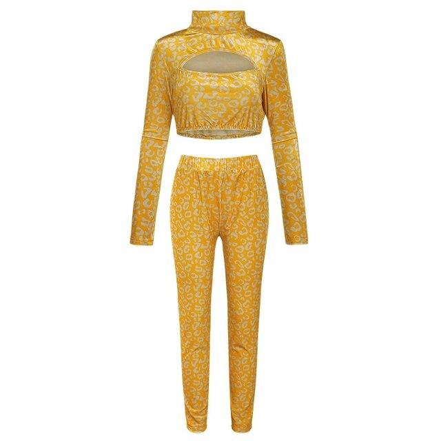 ZKYZWX водолазка, одежда для отдыха, обтягивающий эластичный длинный рукав, комплект из двух предметов для женщин, толстовка, модные штаны, соо...