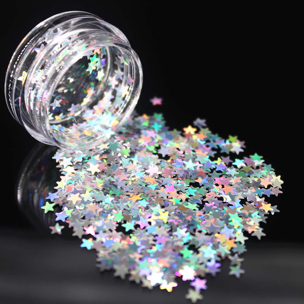 1Pc DIY Fashion Silvery Star Sequins Nail Rhinestone Small Irregular Beads Manicure 3D Nail Art Decoration In Wheel Accessories
