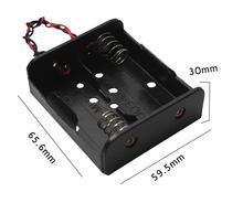 15pcs/lot MasterFire 2 Slots C Size Batteries Holder With Wire Leads x 1.5V Battery Storage Box Case Cover High Quality