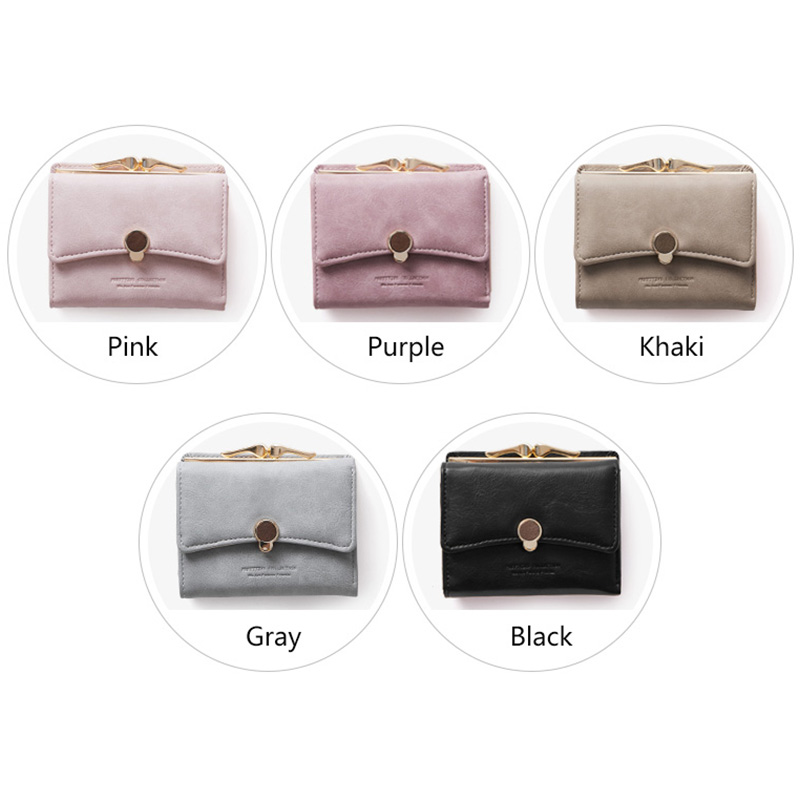 Band Fashion Women wallet small three fold PU leather coin wallet fresh multi function women purse female coin purse wallet in Wallets from Luggage Bags