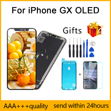 Perfect Quality AAA+++ For iPhone X GX LCD AMOLED No Dead Pixel Display Pantalla 3D Touch Screen Assembly Replacement  TFT LCD
