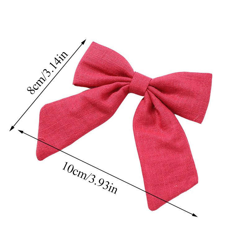 Cotton Fabric Bows Hair Clips Girls Mini Sweet Candy Color Bow Hair Barrettes Hairgrips Hair Accessories Party Headwear Gifts