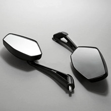 2Pcs/Pair Motorcycle Mirror Scooter E-Bike Rearview Mirrors Electrombile Back Side Convex Mirror 8mm 10mm Carbon Fiber