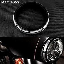Motorcycle 7 Burst Headlamp Headlight Trim Ring For Harley Touring Street Glide Road King Electra Tri Glide FLHR FLHX FLTXR