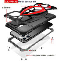 Metal 360 Full Protect Armor Case for iPhone 11 case funda coque For iPhone xs xr 11 Pro Max phone Case Cover shockproof Fundas
