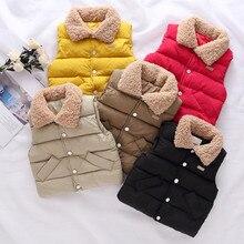 Solid color 100%high quality Warm parkas Children's vest for girls boy coat down and parkas kids vest winter clothing warm