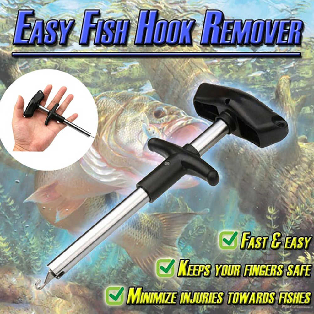 Hook Detacher Remover Extractor Device with LED Light Fishing Handle Tackle Sea