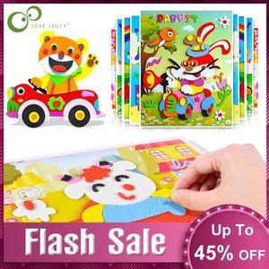 10Pcs 3D EVA Foam Sticker Puzzle Game DIY Cartoon Animal Learning Education Toys For Children Kids Multi-patterns Styles GYH(China)