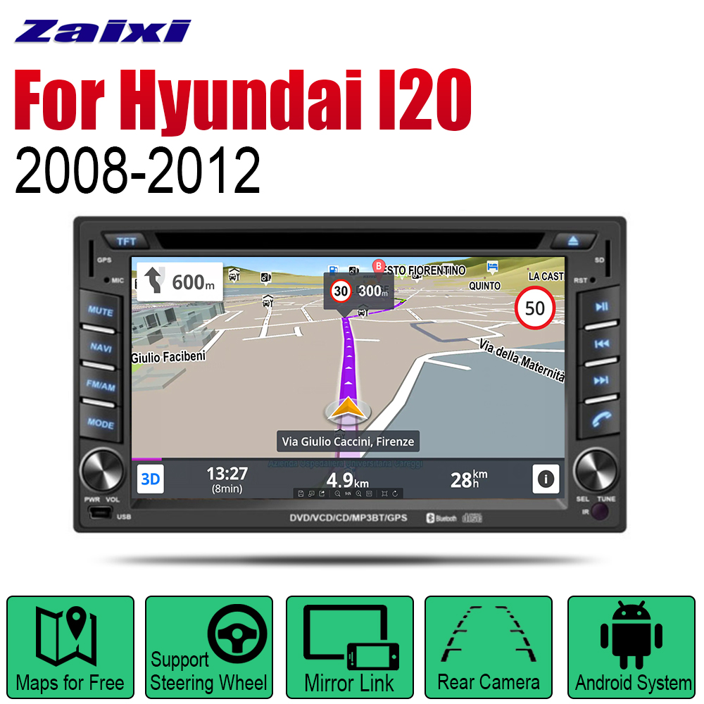 ZaiXi Auto Radio 2 Din Android Car DVD Player For <font><b>Hyundai</b></font> i20 Troy <font><b>2008</b></font>~2012 GPS Navigation BT Wifi Map Multimedia system image
