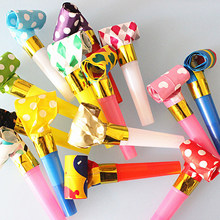 Behogar chifres para festas 20pçs, chifres multicoloridos para festa de aniversário, brinquedos estilo aleatório