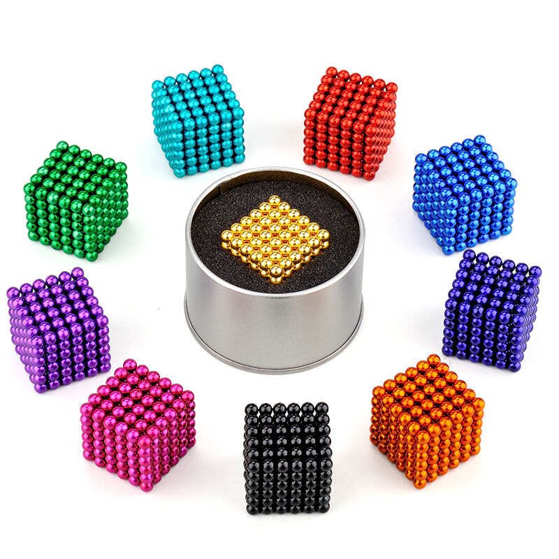 Manufacturers Direct Selling 5MM216 A Color Buckyballs Magnetic Balls NdFeB Relaxation Creative DIY Gift Iron Box