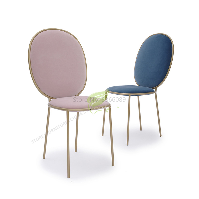 Stool Bar Tabouret De  Iron  Chair   Seat Beauty Dotomy Salon Furniture Make Up  Nordic Ins Modern Simplicity