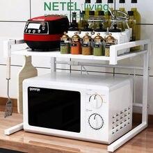 Микроволновая печь стойки полки углерода Сталь нетел Кухня расширяемый