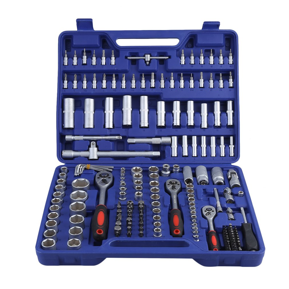 171pcs/set Professional Carbon Steel KS Tools Socket Wrench Set Metal Construction Socket Spanner Wrench Set Repair Tools Sale