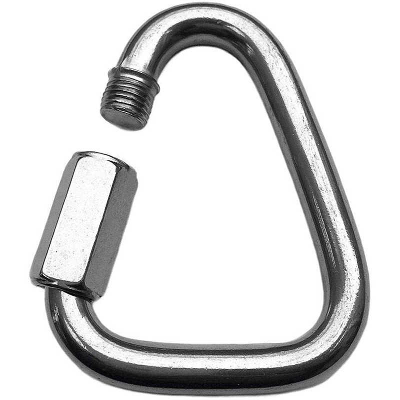 304 الفولاذ المقاوم للصدأ مثلث حلقة تسلق في الهواء الطلق التخييم التنزه المفاتيح مشبك خاطف هوك غلاية مشبك سلسلة قفل المسمار الملحقات