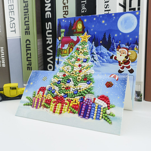 8 шт 5D DIY особой формы алмазов картина поздравительная открытка с трехмерной аппликацией в виде рождественские открытки на Рождество подарок|Алмазная мозаика и вышивка|   | АлиЭкспресс