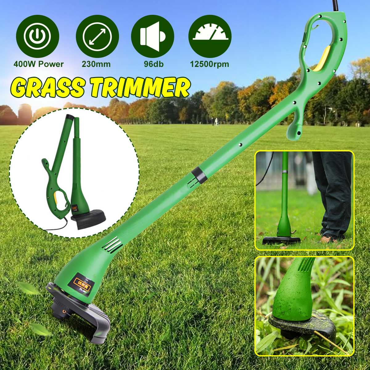 220V Home Electric Lawn Mower Portable 500W Grass Trimmer Garden Lawn Mower Weeding Machine 12500RPM