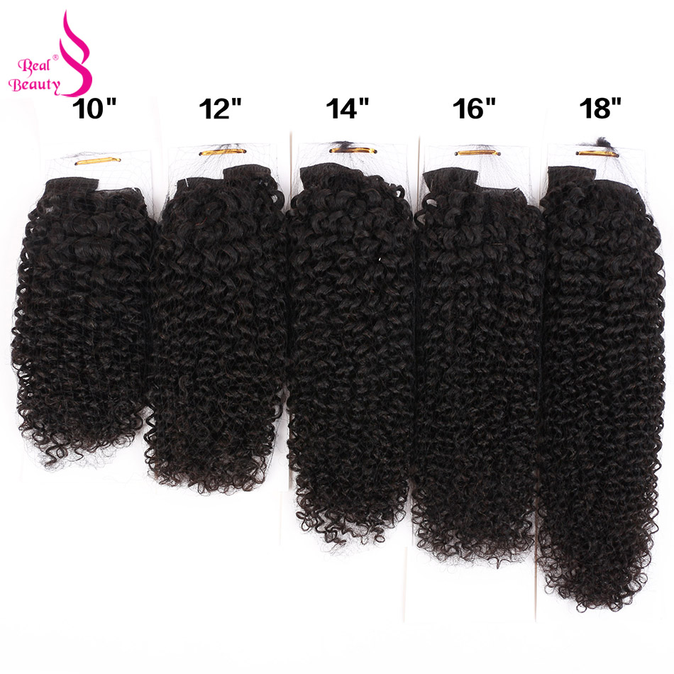 Real Beauty Mongolian Bohemian Curly Clip Ins Human Hair 3B 3C Clip In Human Hair Extensions 70g/set Remy Hair