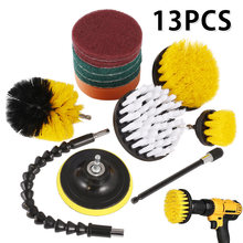 13pcs Drill Brush Attachment Cleaner Brushes For Bathroom Surface Grout Tile Shower Kitchen Car Floor Care Cleaning Tools