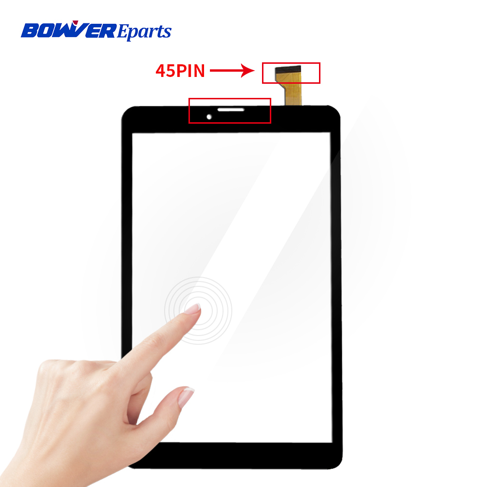 45pin New 8 inch 8'' ips Touch GY-P8005A-04 for child Tablet digitizer touch screen Glass Sensor Touchscreen Size :204*120mm image